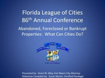 Presentation - Florida League of Cities