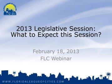 Legislative Session Preview - Florida League of Cities
