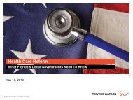 Health Care Reform - Florida League of Cities