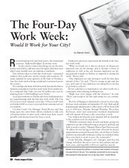 The Four-Day Work Week: - Florida League of Cities