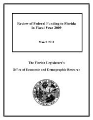 Review of Federal Funding to Florida - Office of Economic ...