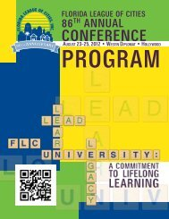 FLC Annual Conference Program - Florida League of Cities