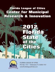 2012 Florida State Cities - Florida League of Cities