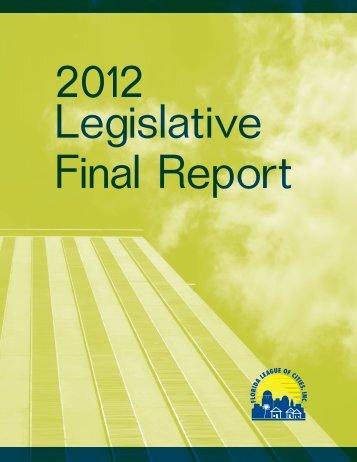 2012 Final Report - Florida League of Cities