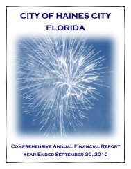 CITY OF HAINES CITY FLORIDA - Florida League of Cities