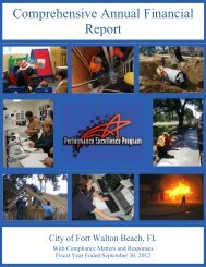 Comprehensive Annual Financial Report - Florida League of Cities