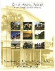 CITY OF APOPKA FLORIDA - Florida League of Cities