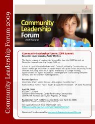 Community Leadership Forum 2009 - Junior League of Los Angeles