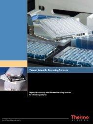 Thermo Scientific Barcoding Services - Matrix Liquid Handling ...
