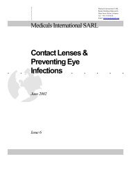 Contact Lenses & Preventing Eye Infections - Medicals International