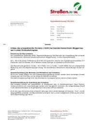 Entscheidung vom 10.05.2012 - Straßen.NRW