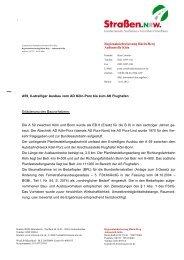 Entscheidung vom 11.01.2012 - Straßen.NRW