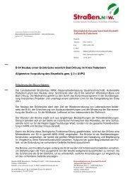Entscheidung vom 11.06.2010 - Straßen.NRW