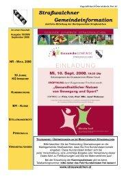 Gemeindeinfo 10/2008 - Strasswalchen