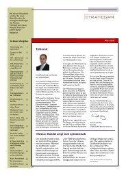 Editorial Thema: Handel zeigt sich optimistisch - Strategam