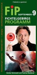 Fichtelgebirgs-Programm - September 2014
