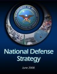 National Defense Strategy 2008 - United States Department of ...