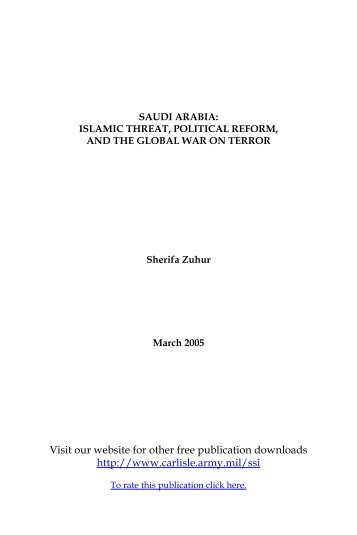 Saudi Arabia: Islamic Threat, Political Reform, and the Global War ...