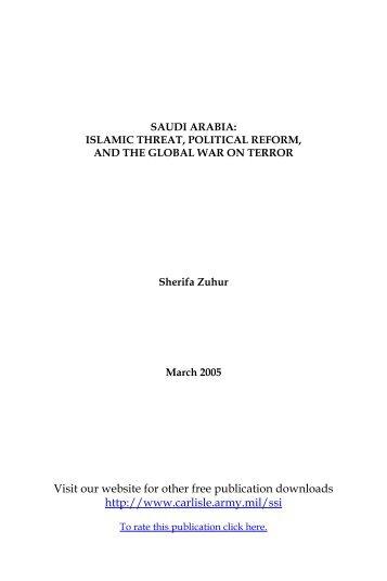 Saudi Arabia: Islamic Threat, Political Reform, and the Global War ...
