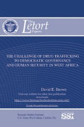 The Challenge of Drug Trafficking to Democratic Governance and ...