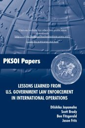 Lessons Learned from U.S. Government Law Enforcement in ...