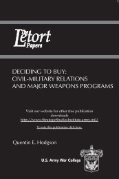 Deciding to Buy: Civil Military Relations and Major Weapons Programs