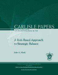 A Risk-Based Approach to Strategic Balance - Strategic Studies ...