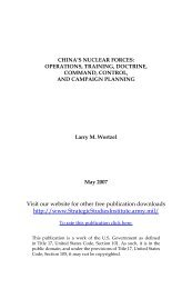 China's Nuclear Forces: Operations, Training, Doctrine, Command ...