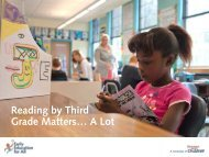 Reading by Third Grade Matters… A Lot - Strategies for Children