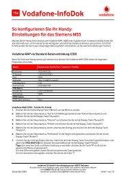 Infodok 754: Einstellungen für das Siemens M55