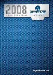 Rapport annuel 2008 - Keytrade Bank