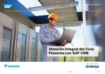 Atención Integral del Ciclo Posventa con SAP CRM – 2012 - Stratesys