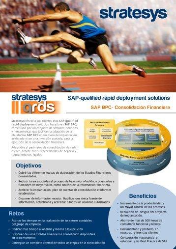 qualified rapid deployment solution basada en SAP BPC - Stratesys