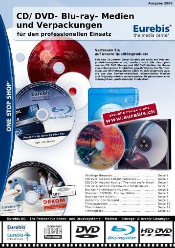 CD/DVD- Blu-ray- Medien und Verpackungen - Eurebis AG