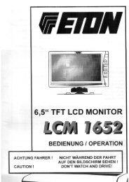 "6,5"" TFT LCD MONITOR - Eton GmbH"