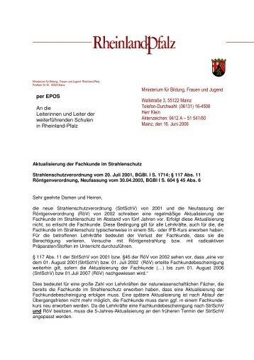 Aktualisierung der Fachkunde im Strahlenschutz - Strauch-nw.de