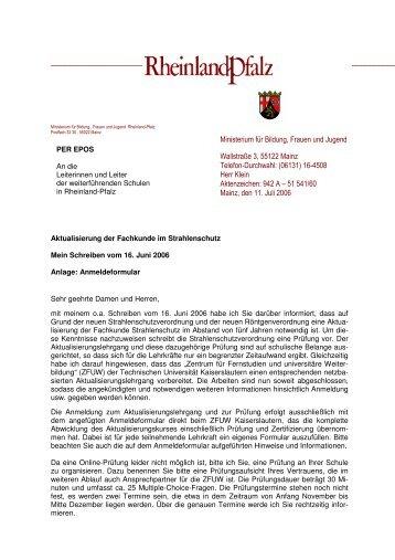 Sek I u II - Aktualisierung Fachkunde Strahlenschutz ... - Strauch-nw.de