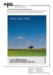 Monatsplan Juni 2011 / Juli 2011 Landeskirchliche ... - Strauchstrasse