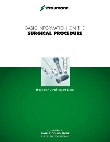 CALIT100 BLI Surgical Manual - Straumann Canada