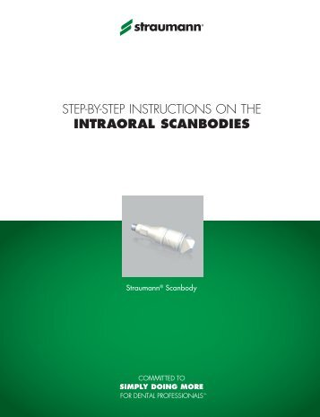 step-by-step instructions on the INTRAORAL SCANBODIES