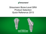 SRH Tools: Quick Reference - Straumann