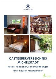 GASTGEBERVERZEICHNIS MICHELSTADT