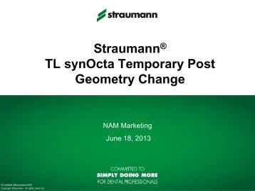 TL synOcta Temporary Post PPT Presentation - Straumann