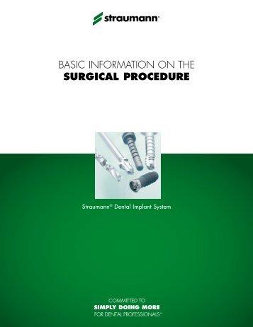 LIT100 - Basic information on the surgical procedure - Straumann