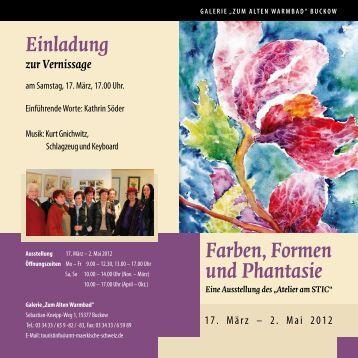 Farben, Formen und Phantasie Eine Ausstellung ... - Strausberg-Live