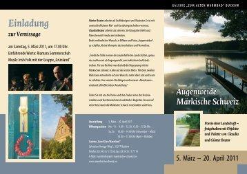 zur Vernissage Einladung - Strausberg-Live