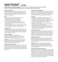 Instrucciones del producto - Streamlight