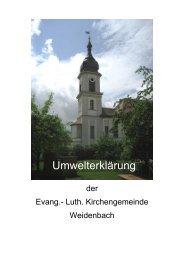 Umwelterklärung der Kirchengemeinde Weidenbach