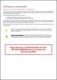Page réservée à l'administrateur du site. NE PAS ... - Quomodo