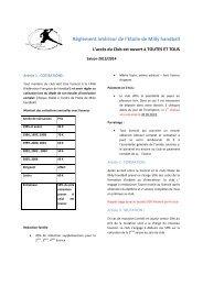Règlement intérieur de l'Etoile de Milly handball - Quomodo